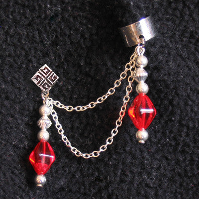 Red Royal Chain Cuff