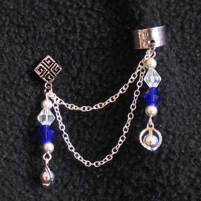 Blue Star Tear Chain Cuff