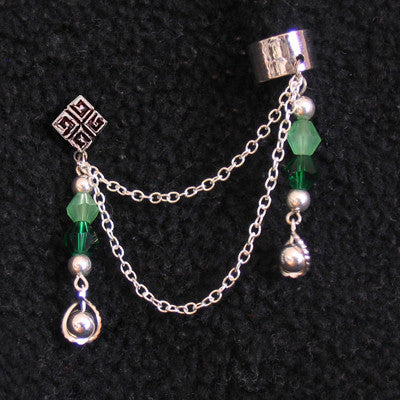 Green Star Tear Chain Cuff