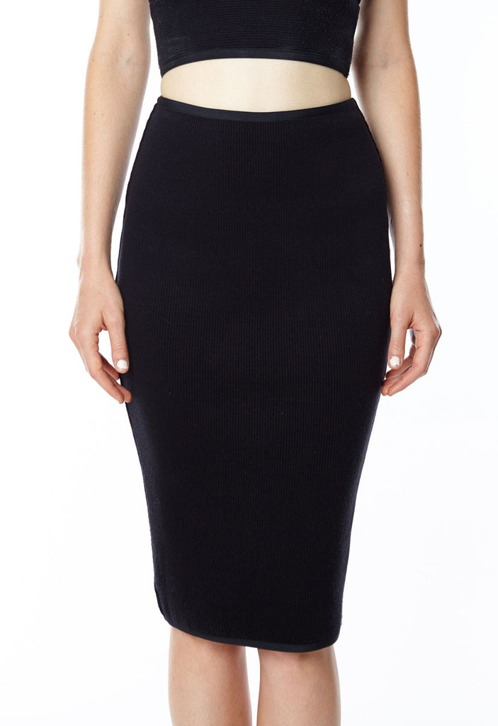 Mia Ribbed Fitted Skirt