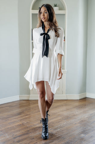Iman Silk Shirt Dress