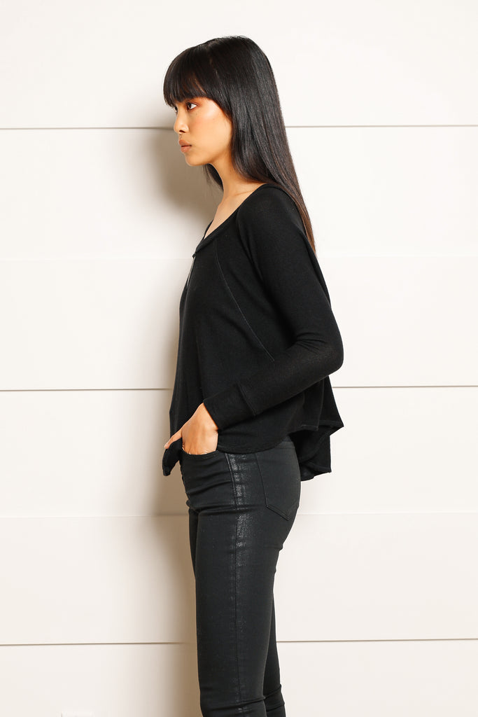 Arlo Leather Contrast Sweater