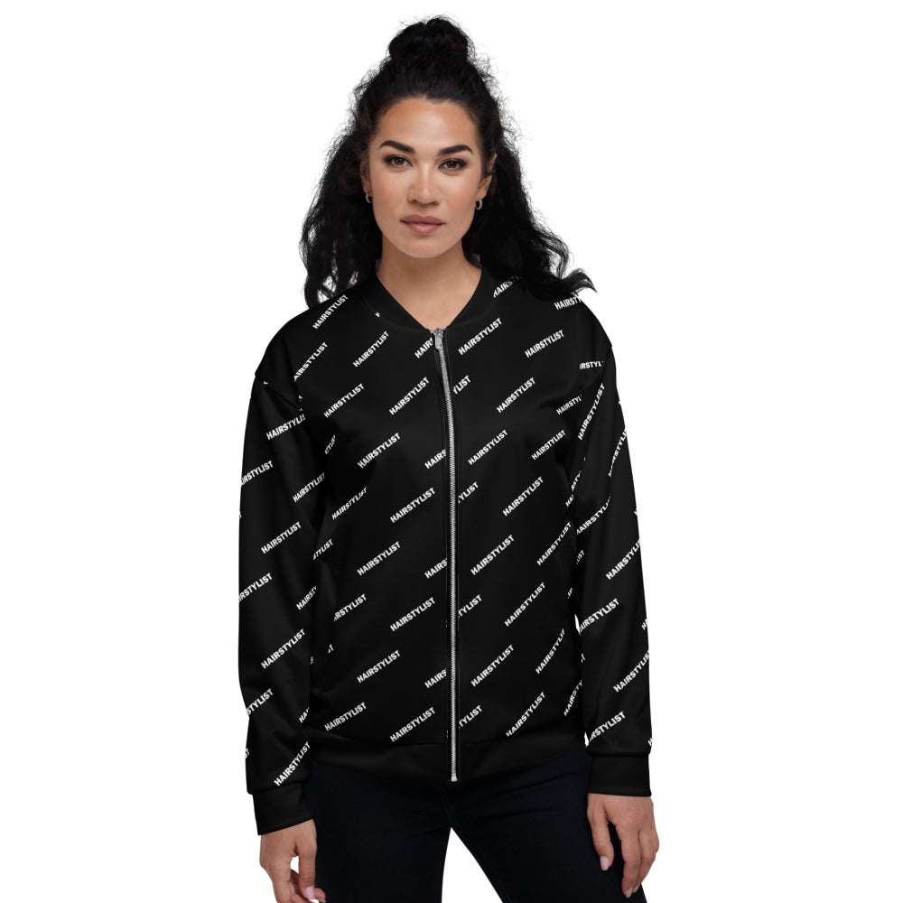 Hairstylist (Diagonal All-Over Print) - Unisex Bomber Jacket