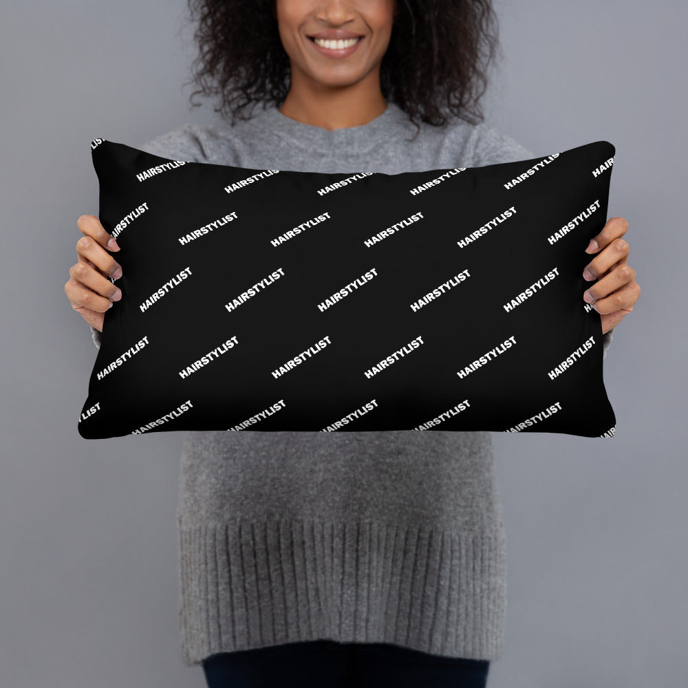 Hairstylist (Diagonal All-Over Print) - Basic Pillow
