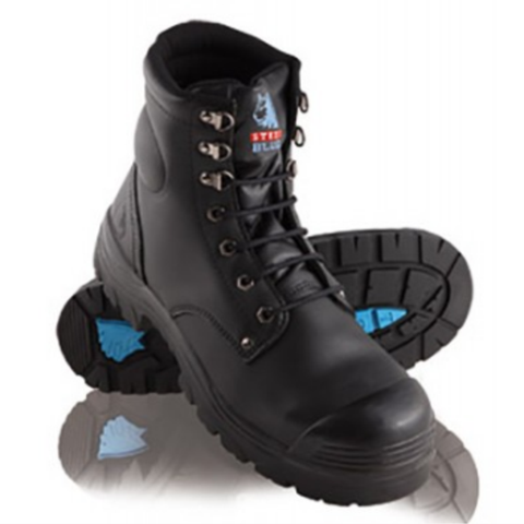 Image of Steel Blue ARGYLE LACEUP BOOT WITH BUMP CAP 332102
