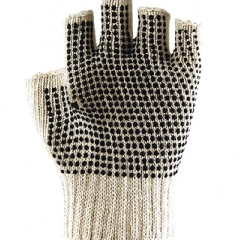 DOT PALM FINGERLESS GLOVES SIZE L