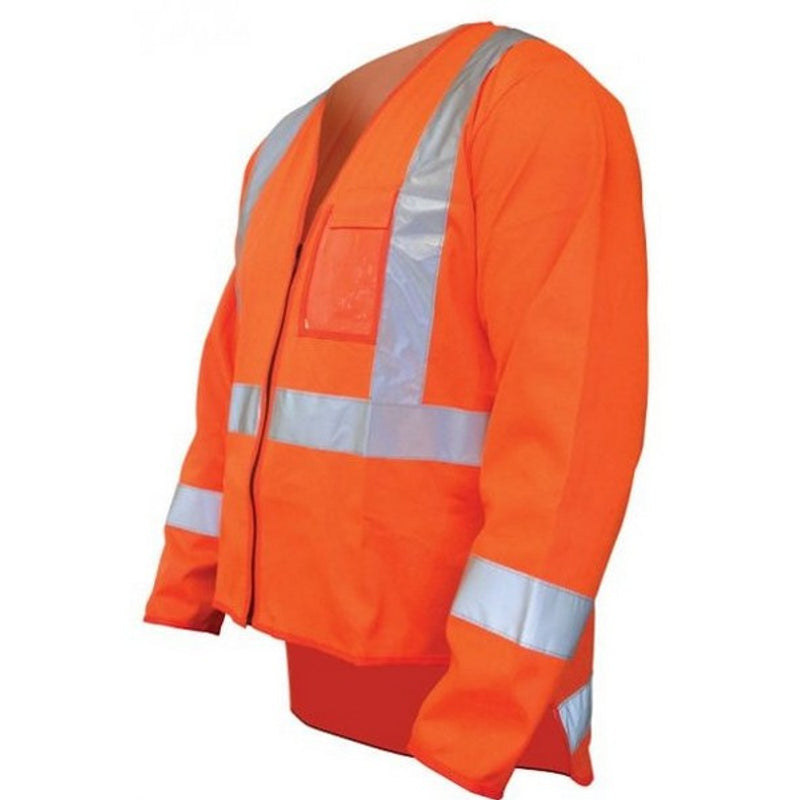 Image of VIZUAL TTMC-W ORANGE DAY/NIGHT HIGH VISIBILITY VEST LONG SLEEVE