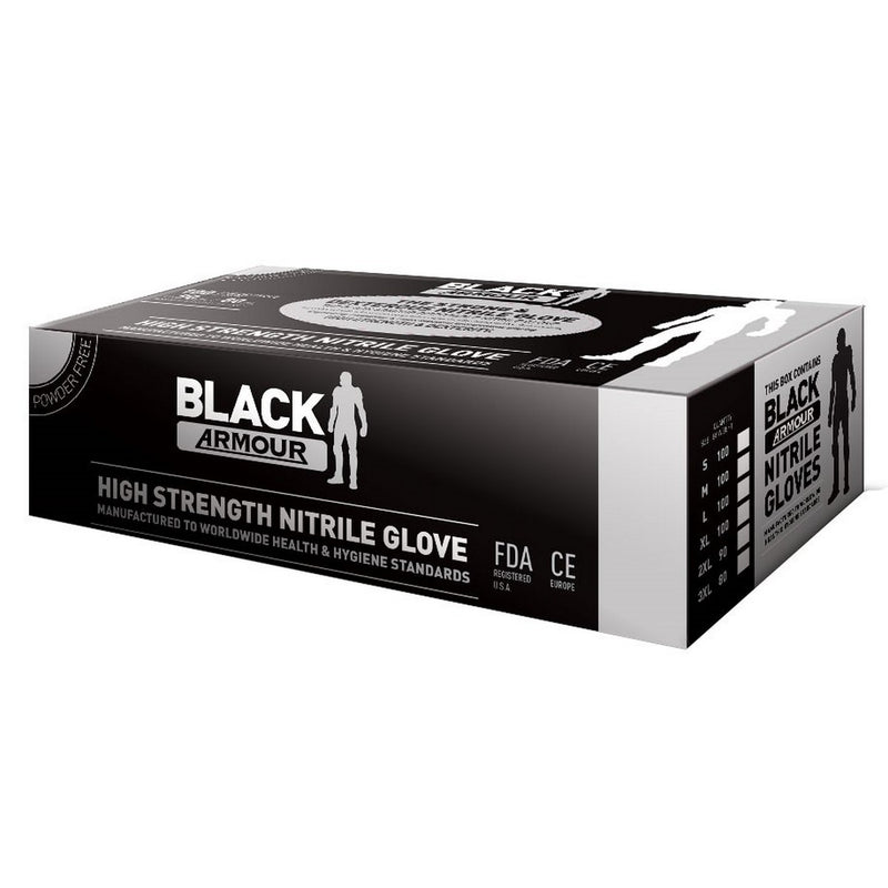 Armour Black Nitrile Gloves