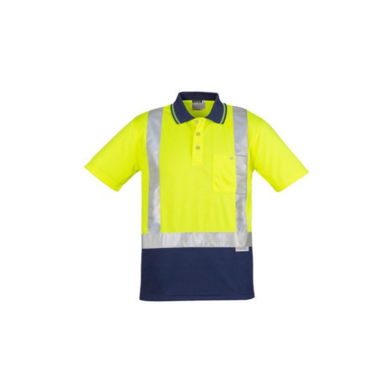 Image of Syzmik Spliced Short Sleeve Taped Polo