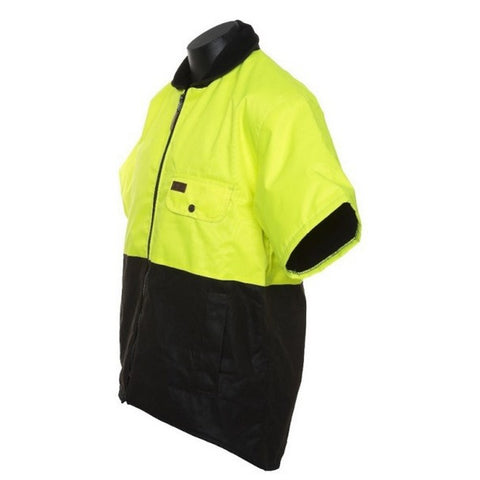Image of OILSKIN HI-VIS SLEEVED VEST
