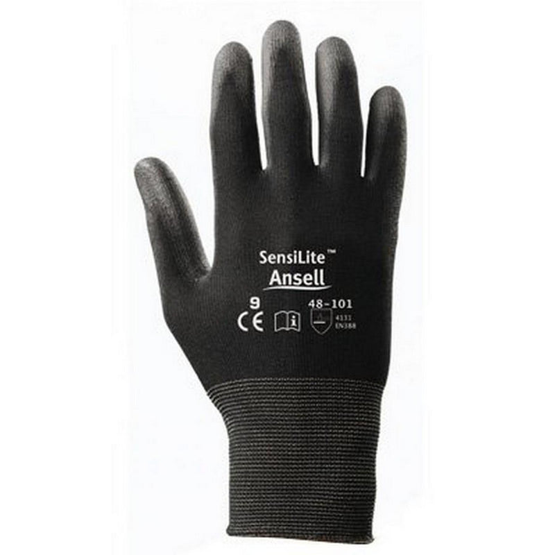 Ansell Sensilite Black Gloves