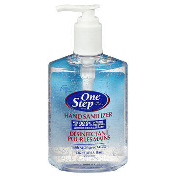 Image of One step hand sanitizer 236ml Pump bottle