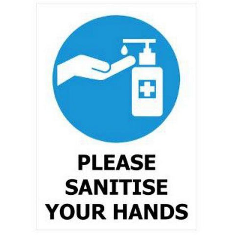 Image of Please Sanitize Your Hands  Signs