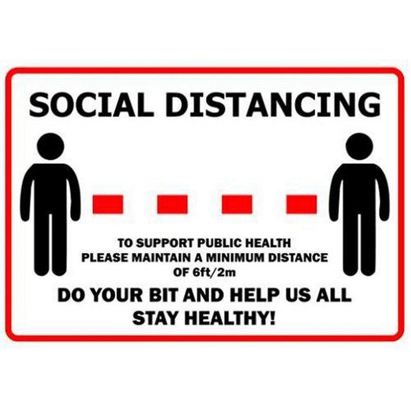 Image of Social Distancing Sign