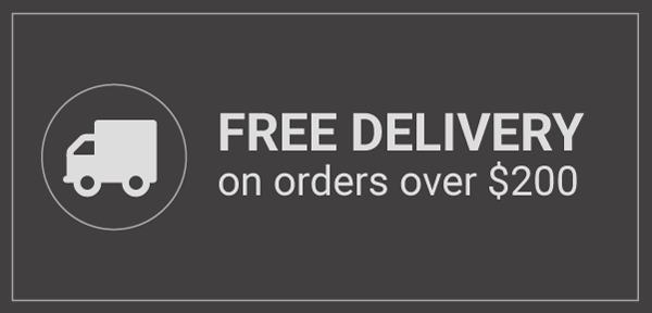 Free Delivery on all orders over 200 Dollars