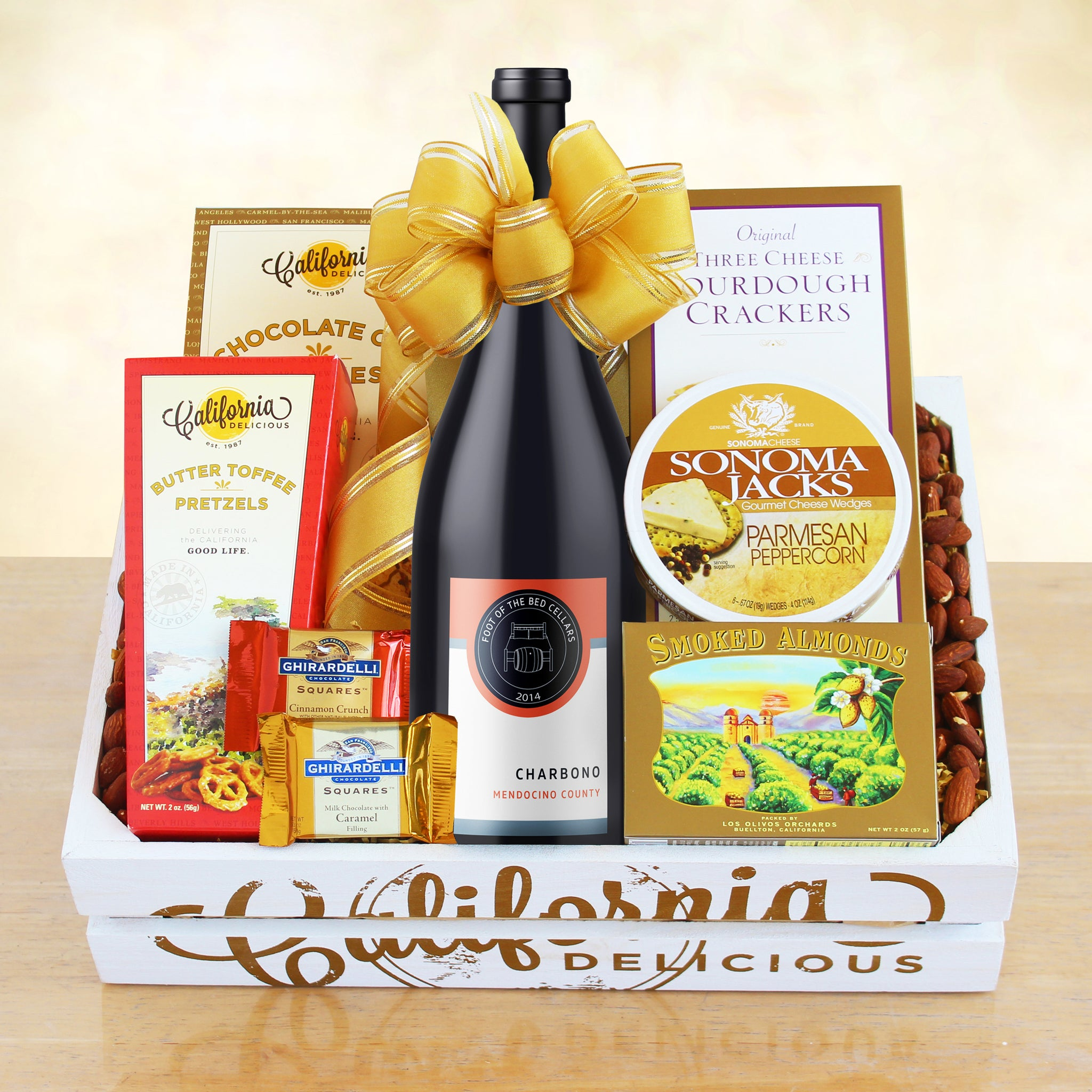 California Wine Crate Gift Basket