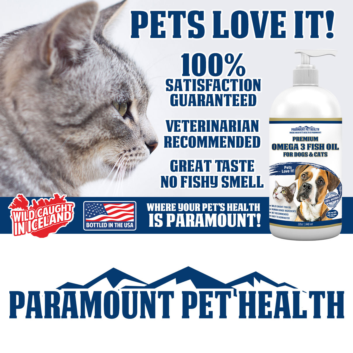 Pets Love Omega 3 for Dogs and Cats