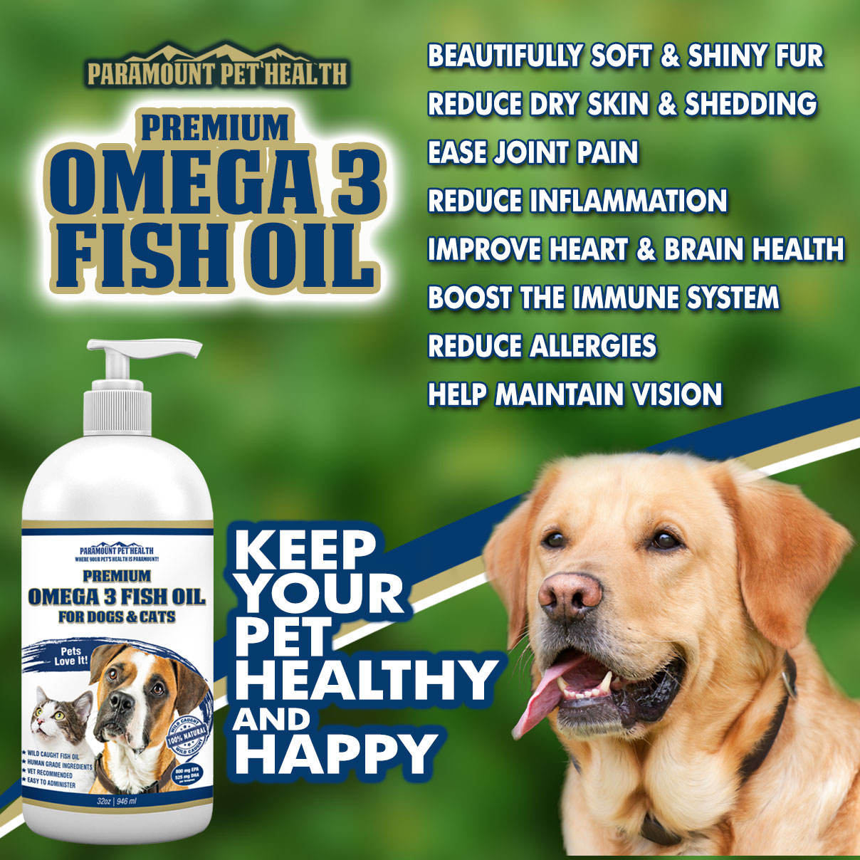Omega 3 for Dogs and Cats Benefits