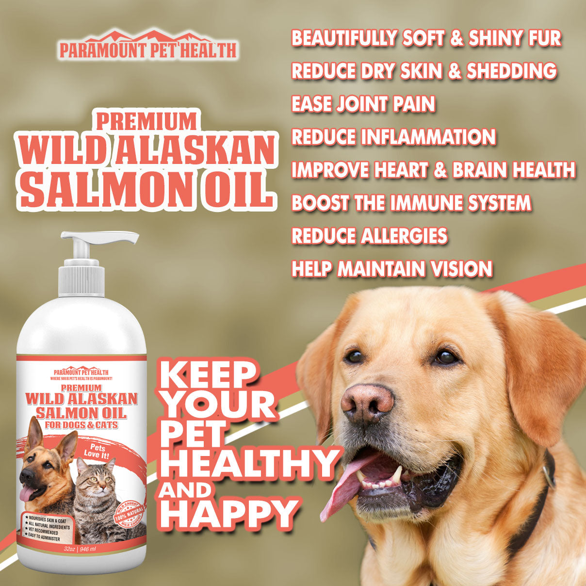 Wild Alaskan Salmon Oil for Dogs and Cats Benefits