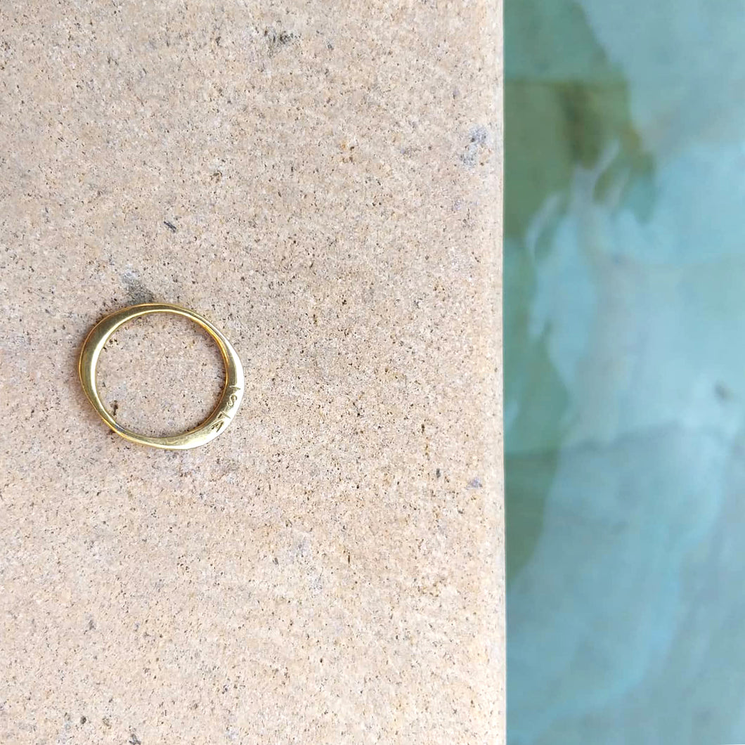 ISLA Engraved Hammered Ring