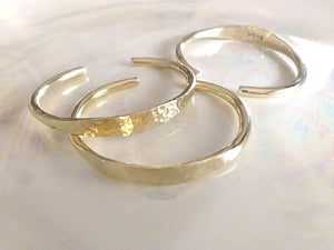 ISLA Hammered Bangles, Adjustable, 18K Gold-Plated Brass