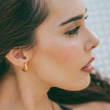 "Load image into Gallery viewer, ""Gia"" Everyday Beach-Proof Earrings, 18K Gold-Plated Stainless Steel"