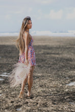 Load image into Gallery viewer, Cassandra Sunset Stroll Mini Dress (Spaghetti Tie Top, Fit & Flare)