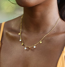 Load image into Gallery viewer, Island Mixer Necklace, 18K Gold-Plated Stainless Steel, 16 inch