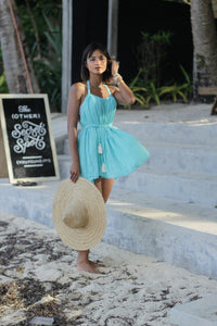 ISLA Multiway Beach Dress In Aqua