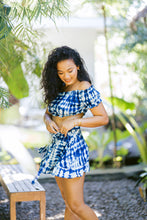 "Load image into Gallery viewer, ""Carmelita"" Classic Crop Top & Wrap Around Skirt, Classic Tie Dye Print"