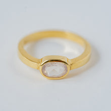 "Load image into Gallery viewer, ""Maria"" Rose Quartz Ring, 14k Solid Gold (1 Piece Only)"