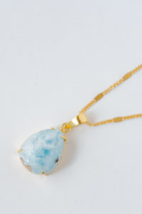 """Wisdom Of The Sea"" Larimar Pendant, Set In 14K Solid Gold (1 Piece Only)"