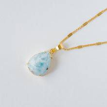"Load image into Gallery viewer, ""Wisdom Of The Sea"" Larimar Pendant, Set In 14K Solid Gold (1 Piece Only)"