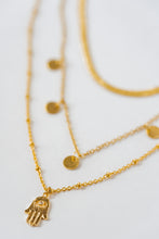"Load image into Gallery viewer, ""Luna"" Cycles Of Life Necklace, 18K Gold-Plated Stainless Steel, 16 inch"