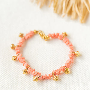 ISLA Coral Pink Gold Vermeil Bracelet (1 Piece Only)