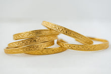 "Load image into Gallery viewer, ""Julia"" Aztec Bangles, 18K Gold Plated Zinc Alloy"