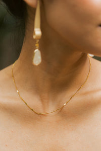 Gia Layering Choker, 18K Gold Plated Stainless Steel Chain