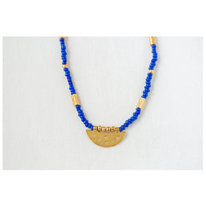 """We Are the Moon & Stars"" Beaded Necklace, 18k Gold Plated 925 Silver"