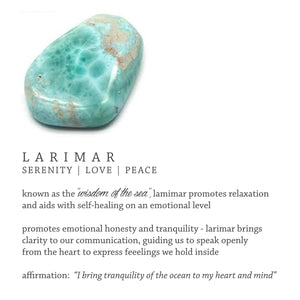 "Larimar ""Wisdom Of The Sea"" 18k Gold-Plated Brass Earrings"