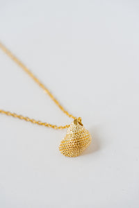 ISLA Dotted Cone Shell Necklace, 18K Gold Plated Stainless Steel, 19 inch