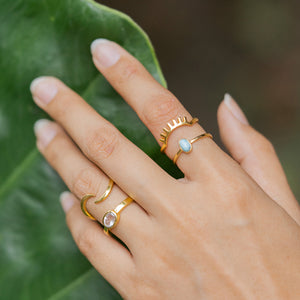 """Maria"" Rose Quartz Ring, 14k Solid Gold (1 Piece Only)"