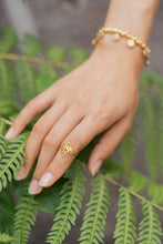 "Load image into Gallery viewer, ""Kamala"" Lotus Ring, 18K Gold Plated Brass"
