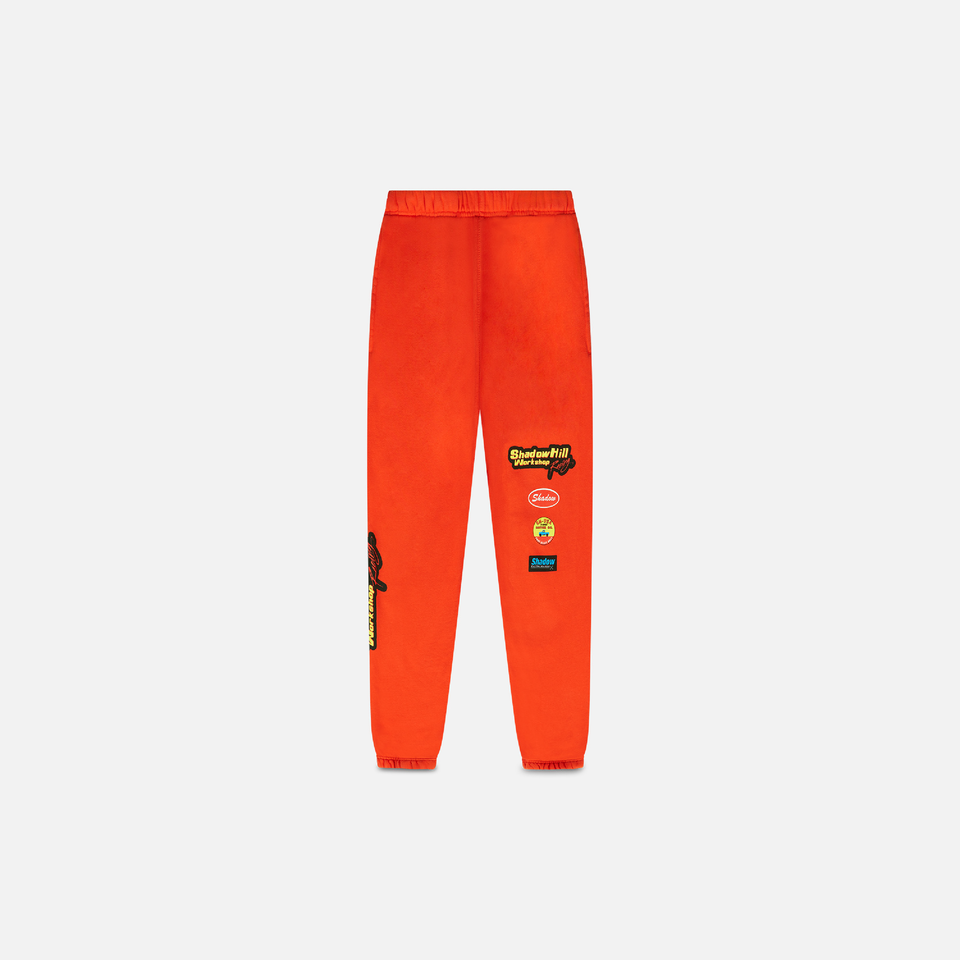 ORANGE WORKSHOP SWEATPANTS