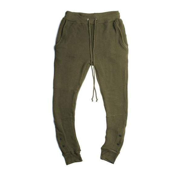 ANTIQUE OLIVE THERMAL SWEATPANTS