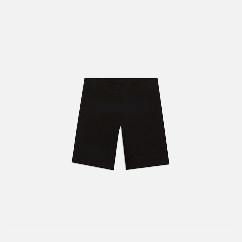 BLACK TETRIS BIKER SHORTS