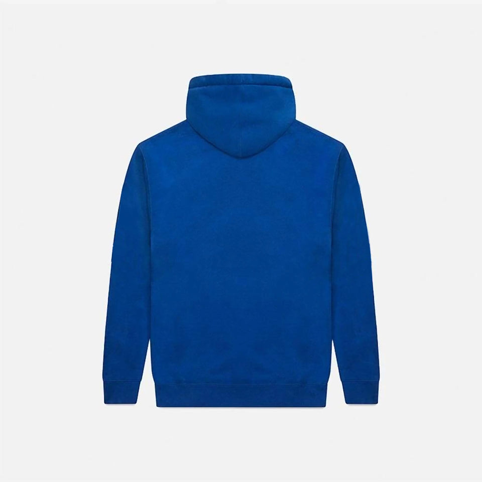 WHITE COBALT FLASH ZIP-UP HOODIE
