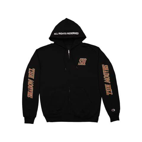 BLACK ALL RIGHTS RESERVED CHAMPION ZIP-UP