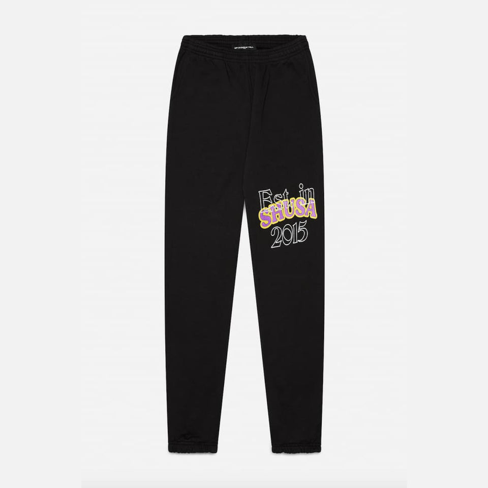 BLACK ESTABLISHED SWEATPANTS