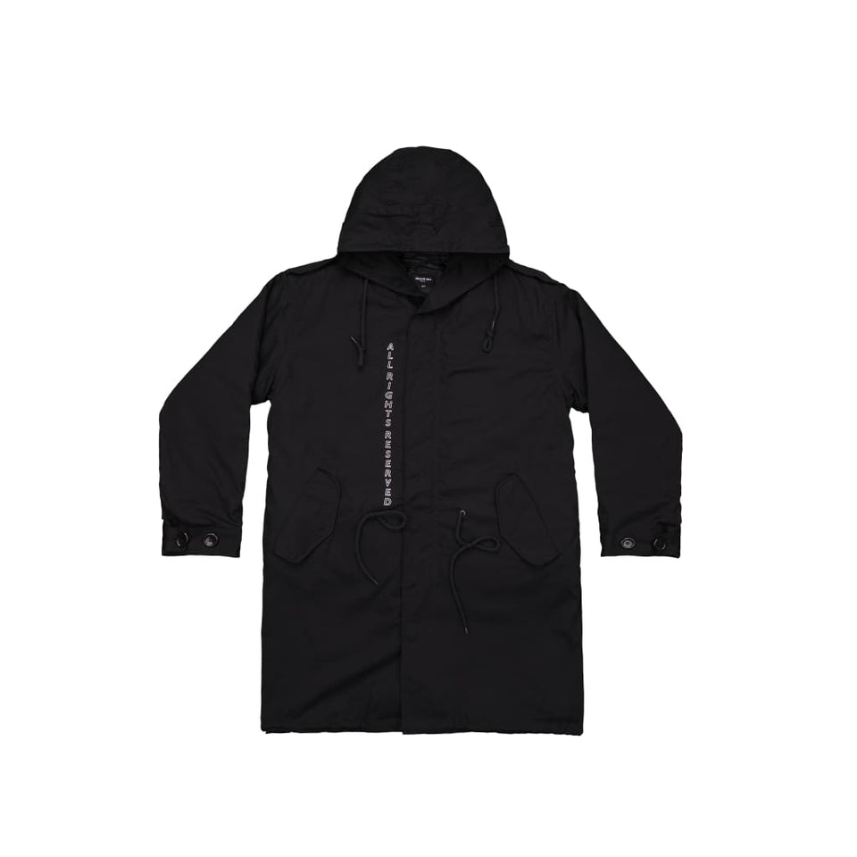 BLACK FORESHADOW FISHTAIL PARKA