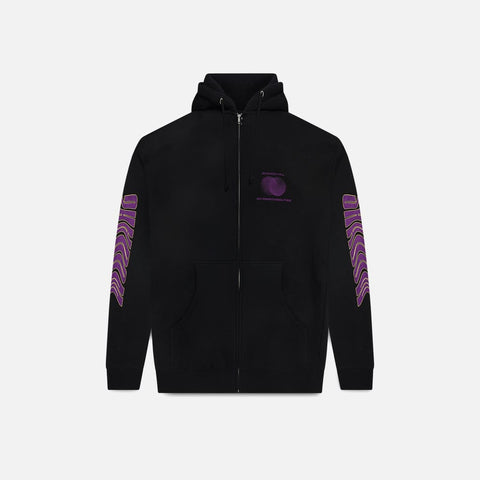 BLACK LAVA ZIP-UP HOODIE